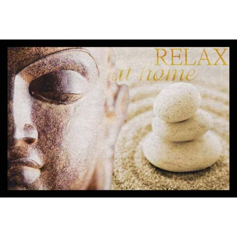 "Tapis Rectangulaire ""Relax"" 40x60cm Naturel"