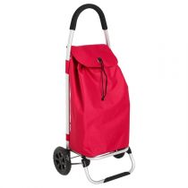 Chariot de Shopping Aluminium Rouge
