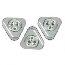 "Lot de 3 Lampes Placard ""Led"" Gris"