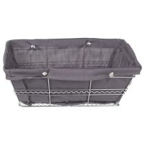 Panier de Rangement Multi-Usages Rectangle Gris
