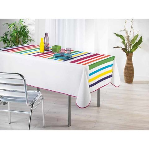 Nappe Colors Rectangle Blanc 150x240cm