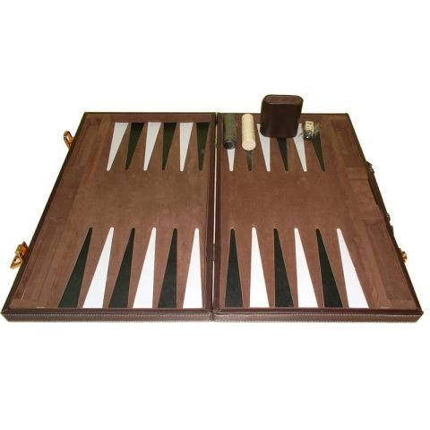 Coffret Backgammon Cuir