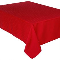 "Nappe Antitache ""Jacquard Carré"" 140x240cm Rouge"