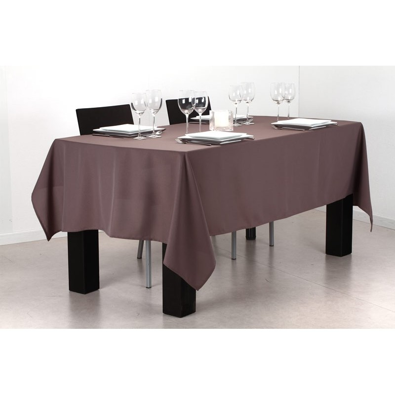 nappe anti t che 140x240cm chocolat. Black Bedroom Furniture Sets. Home Design Ideas