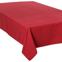 "Nappe Antitache ""Jacquard Carré"" 150x300cm Rouge"