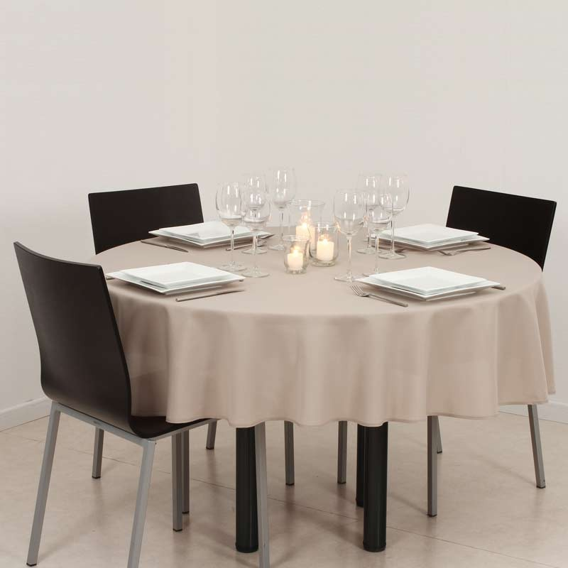 Nappe anti t che ronde 180cm lin for Set de table plastifie