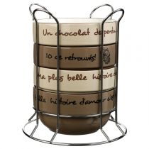 "Set de 4 Bols avec Rack ""Uni"" 50cl Chocolat"