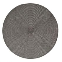 "Set de Table Rond ""Tressé"" 38cm Gris"