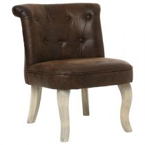 "Fauteuil Design Velours ""Calixte"" 63cm Marron"