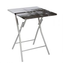 "Table Pliante ""City"" 75cm Gris"