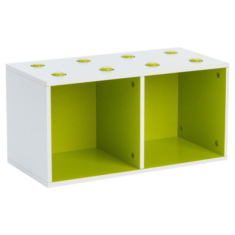 meuble de rangement empilable 2 cubes abc vert. Black Bedroom Furniture Sets. Home Design Ideas