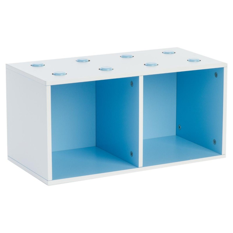 meuble de rangement empilable 2 cubes abc bleu. Black Bedroom Furniture Sets. Home Design Ideas