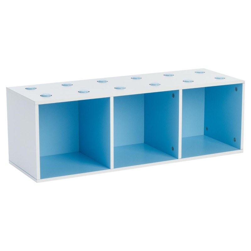 meuble de rangement empilable 3 cubes abc bleu. Black Bedroom Furniture Sets. Home Design Ideas