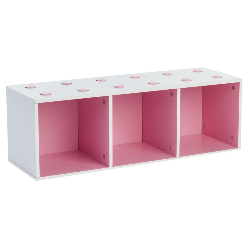 meuble de rangement empilable 3 cubes abc rose. Black Bedroom Furniture Sets. Home Design Ideas