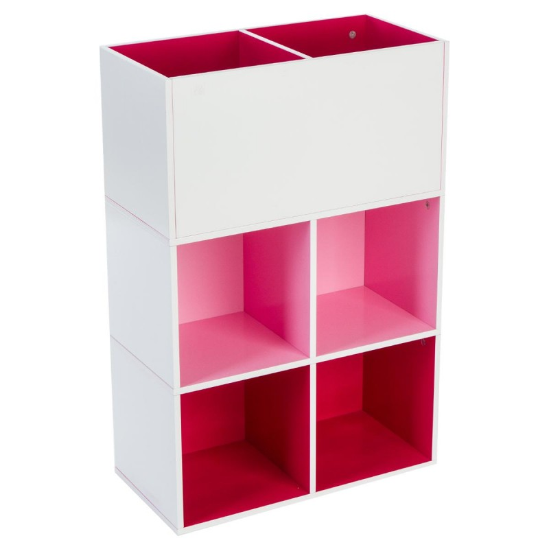 etag re de rangement 6 cubes abc rose. Black Bedroom Furniture Sets. Home Design Ideas