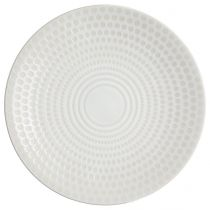 "Lot de 6 Assiettes Plates ""Galaxy"" 27cm Blanc"