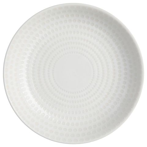 "Lot de 6 Assiettes Creuses ""Galaxie"" 20cm Blanc"