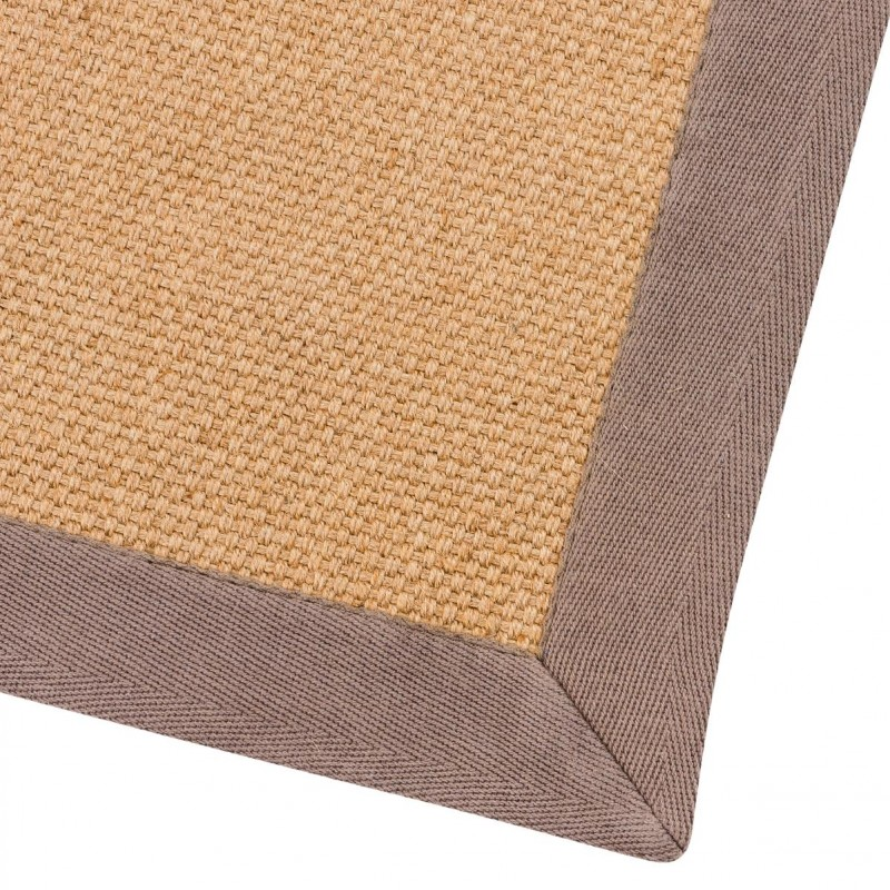 tapis en jute 120x170cm taupe. Black Bedroom Furniture Sets. Home Design Ideas