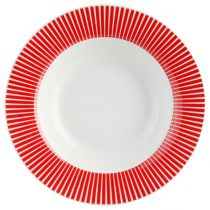 "Lot de 6 Assiettes Creuses ""Baya"" 22cm Rouge"