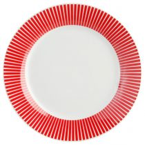 "Lot de 6 Assiettes à Dessert ""Baya"" 19cm Rouge"