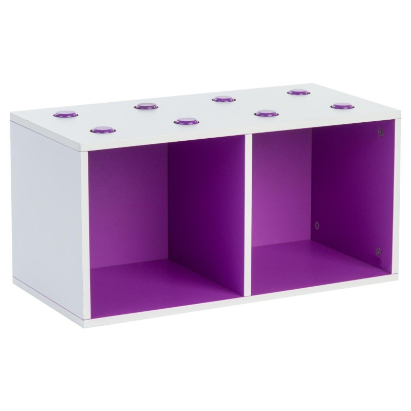 meuble de rangement empilable 2 cubes abc violet. Black Bedroom Furniture Sets. Home Design Ideas