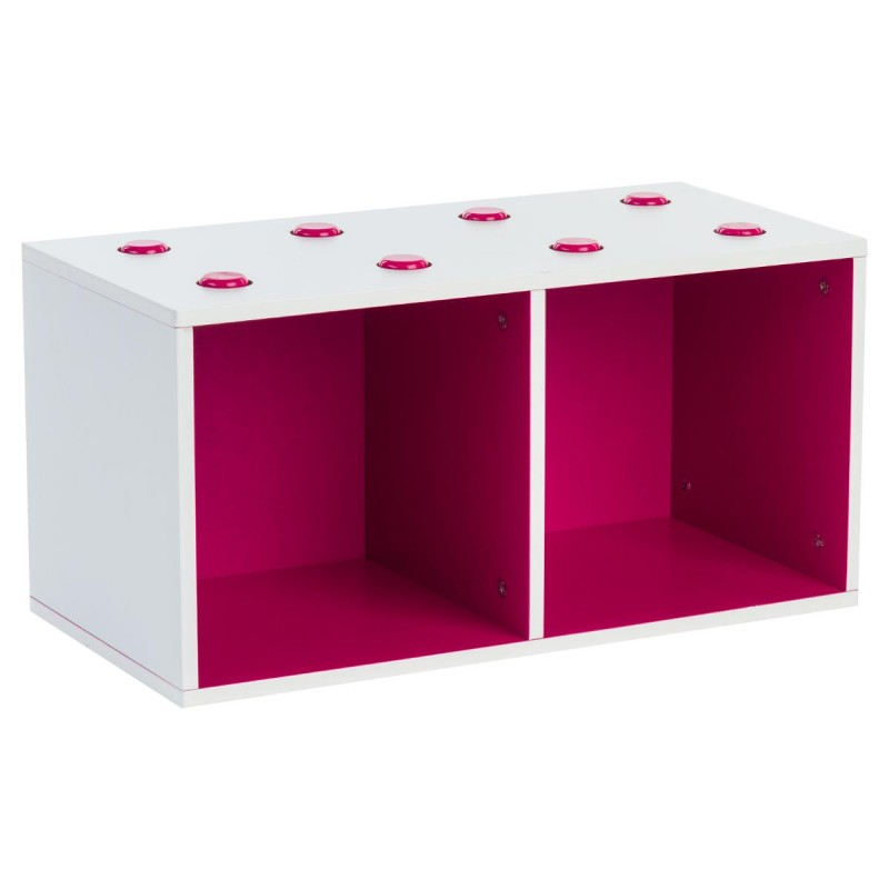 meuble de rangement empilable 2 cubes abc fuchsia. Black Bedroom Furniture Sets. Home Design Ideas