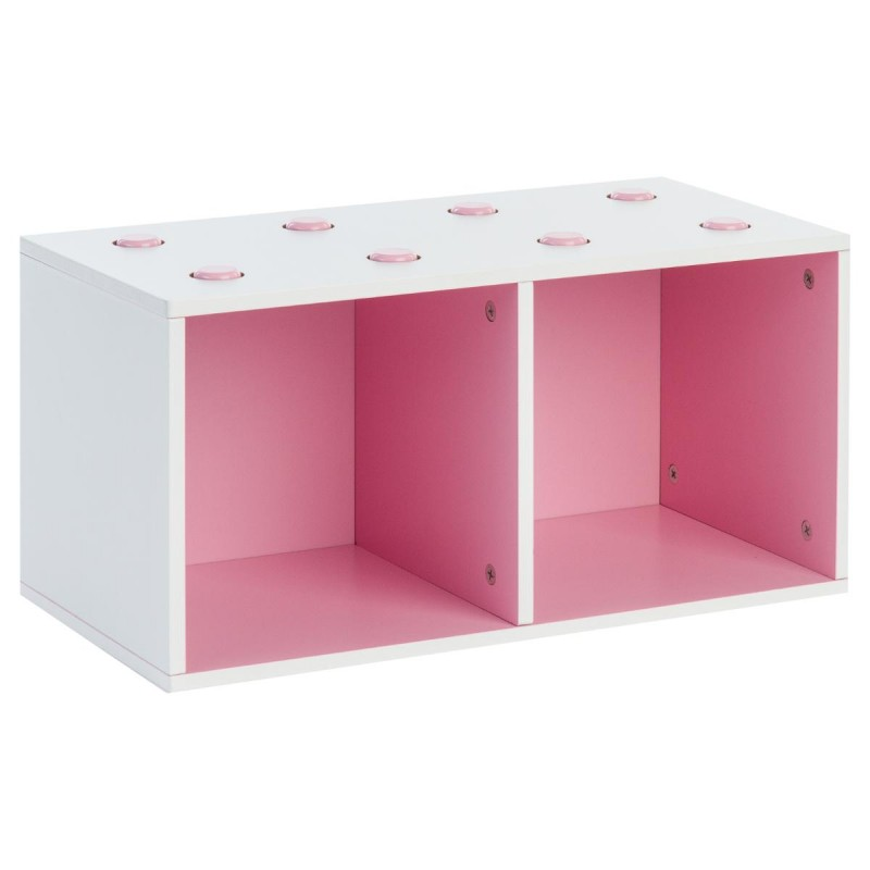 meuble de rangement empilable 2 cubes abc rose. Black Bedroom Furniture Sets. Home Design Ideas