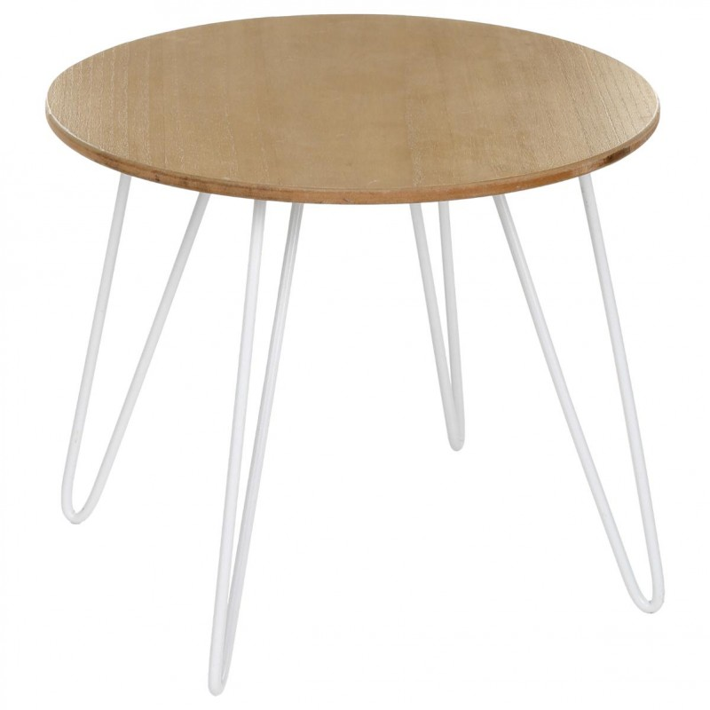 Table d 39 appoint design metsa blanc - Table appoint design ...
