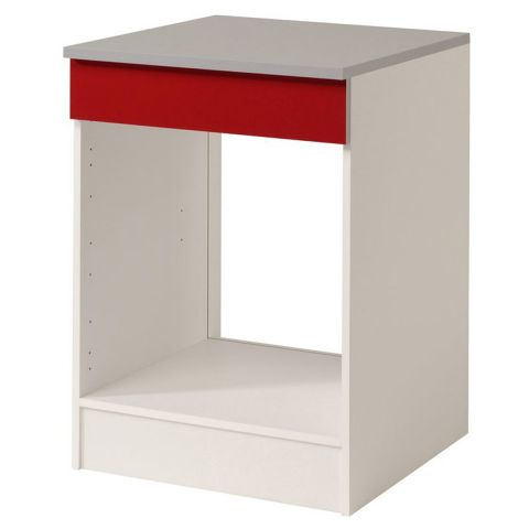 "Meuble Bas Four 60cm ""Shiny"" Rouge"