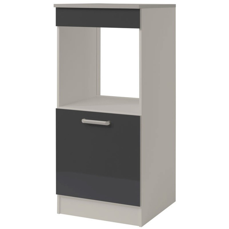 demi colonne four 60cm shiny gris. Black Bedroom Furniture Sets. Home Design Ideas