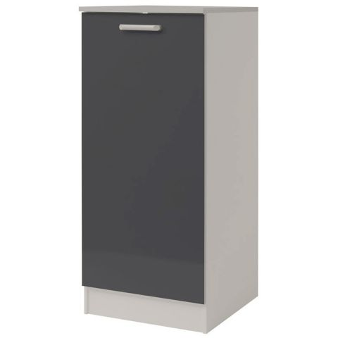 demi armoire de cuisine 60cm shiny gris. Black Bedroom Furniture Sets. Home Design Ideas