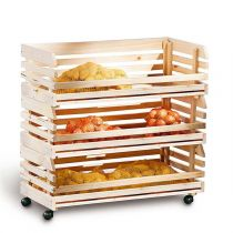 "Desserte 3 Cageots en Bois ""Vegetable"" 79cm Naturel"