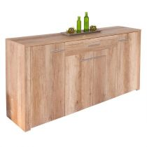 "Buffet Design 4 Portes ""Swift"" 176cm Naturel"