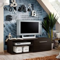 "Meuble TV Design ""Bono I"" 120cm Wengé"