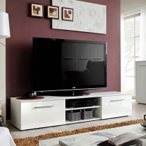 "Meuble TV Design ""Bono II"" 180cm Blanc"