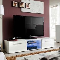 "Meuble TV Design ""Bono III"" 180cm Blanc"