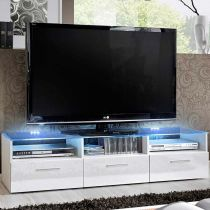 "Meuble TV Design ""Fresh"" 150cm Blanc"