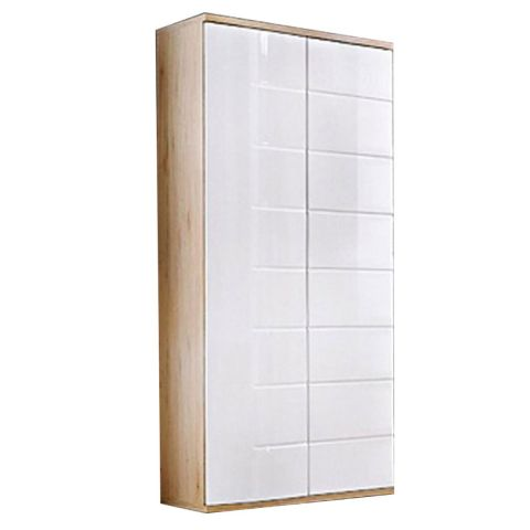 armoire 2 portes design ontario 80cm blanc. Black Bedroom Furniture Sets. Home Design Ideas