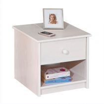 "Table de Chevet ""Korey"" 42cm Blanc"