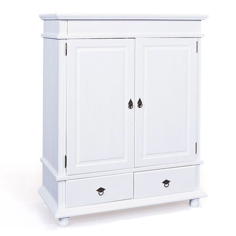 armoire 2 portes coraze blanche. Black Bedroom Furniture Sets. Home Design Ideas