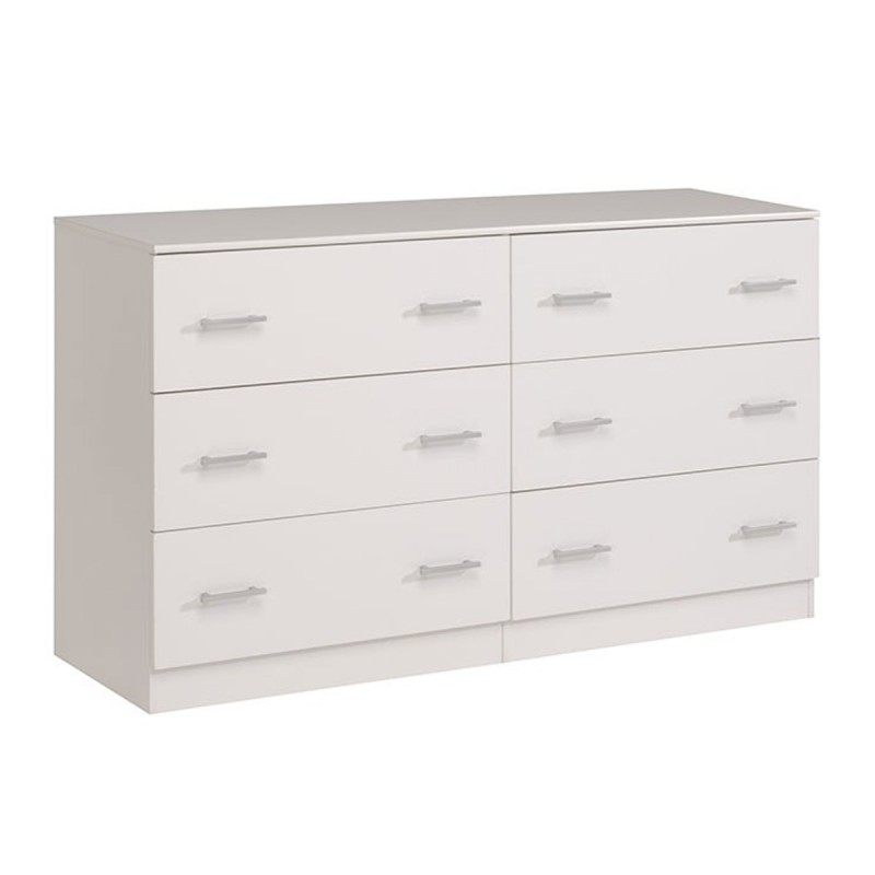 Commode 6 tiroirs galaxy blanc - Commode 6 tiroirs blanc ...