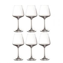 "Lot de 6 Verres à Vin ""Ines"" 360ml Transparent"