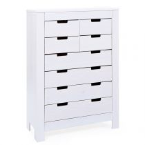 "Commode 8 Tiroirs ""Home"" Blanc"
