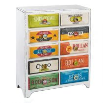 "Commode 10 Tiroirs ""Cubano"" Multicolore"