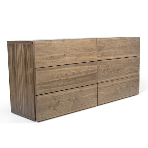 "TemaHome - Commode 6 Tiroirs ""Aurora"" Noyer"