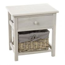 "Table de Chevet 1 Tiroir ""Aby"" Gris"