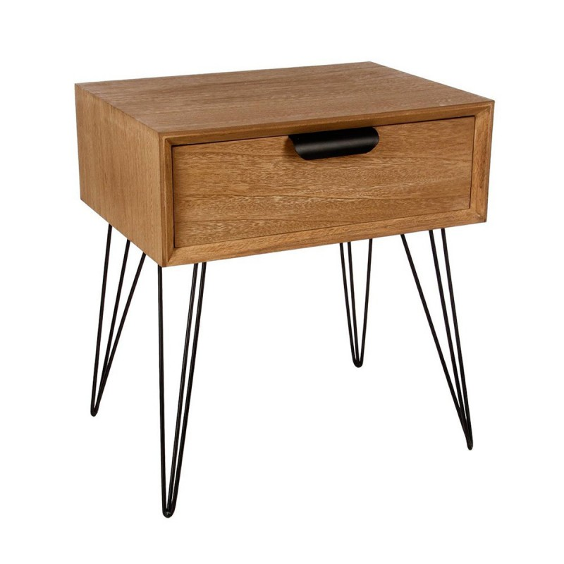 Table de chevet 1 tiroir vanto 53cm naturel for Table de chevet zen
