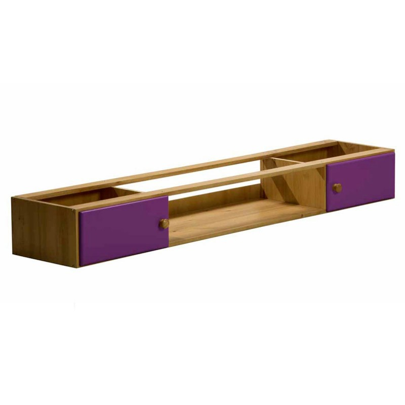 rangement sous lit america 187cm naturel lilas. Black Bedroom Furniture Sets. Home Design Ideas