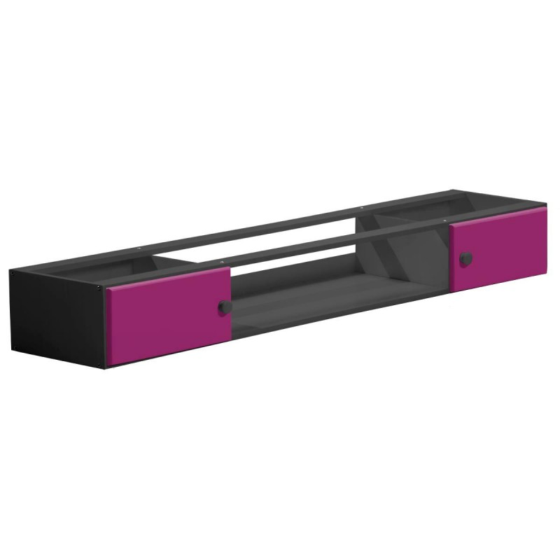 rangement sous lit america 187cm graphite fuchsia. Black Bedroom Furniture Sets. Home Design Ideas