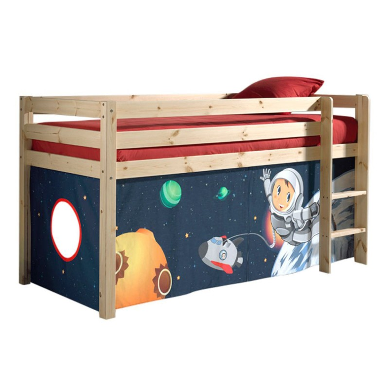 lit enfant sans toboggan pino astronaute naturel. Black Bedroom Furniture Sets. Home Design Ideas